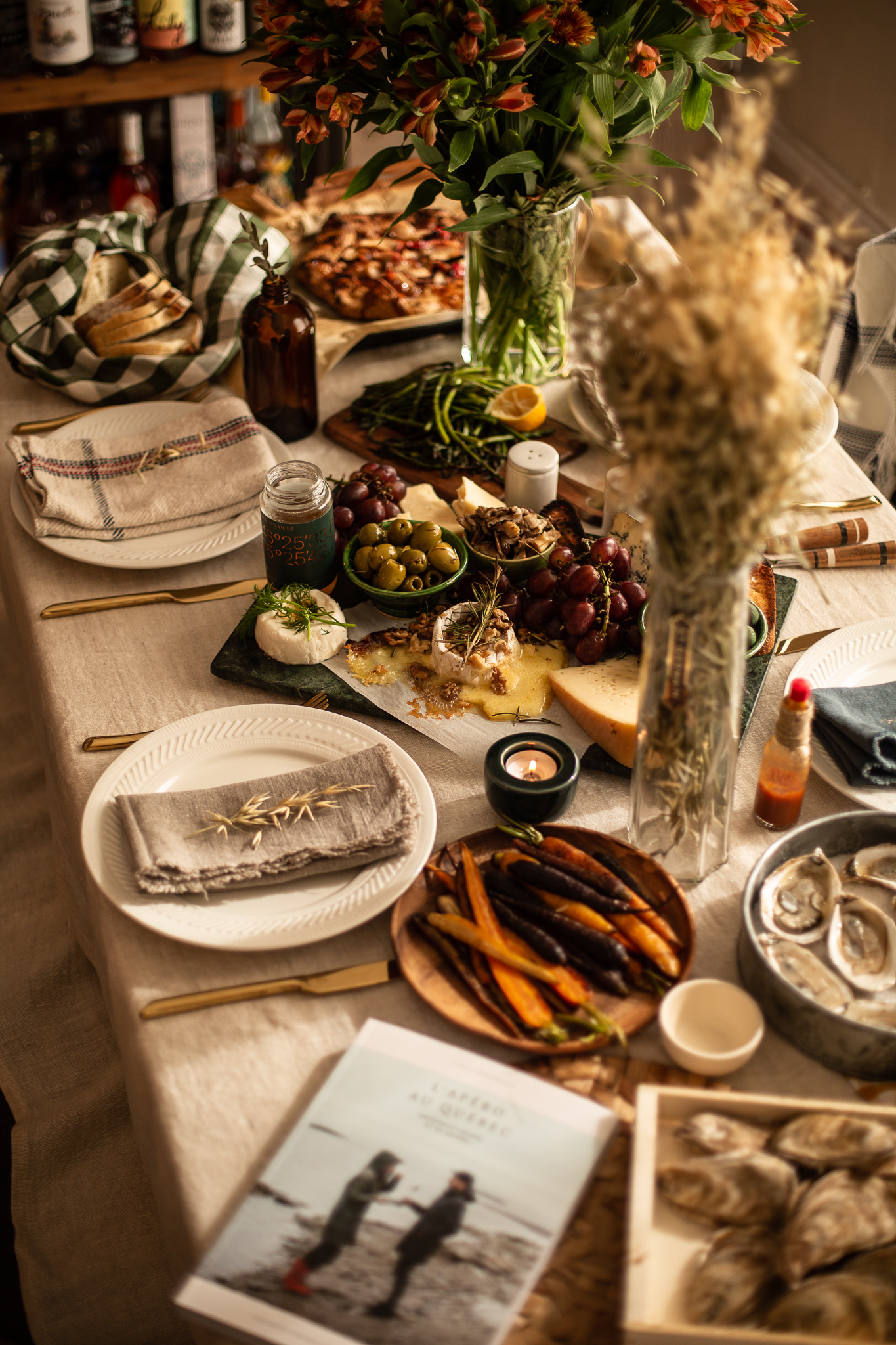 How to host a Warm Cozy Fall dinner | Temps d'un Café