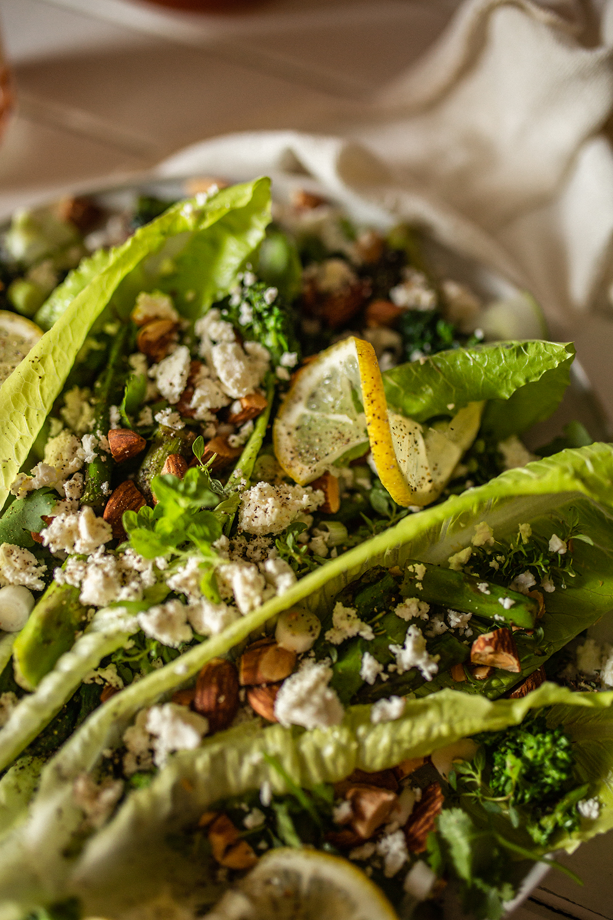 Broccoli Rabe, Asparagus and Feta Salad Recipe |Temps d'un Café